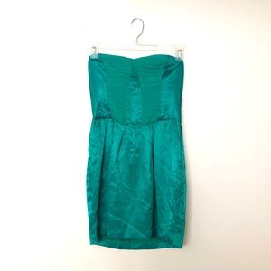 BCBG Emerald Strapless Cocktail Dress